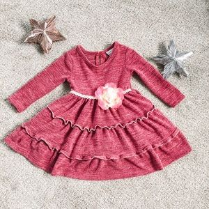 12 month sweater dress with ruffled tiers